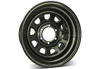 "4X16X8"" 6/114.3 BLACK SUNRAYSIA Steel D Shape Wheel 0P,For D40,PATHFINDER,NP300"