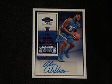 ALAN WILLIAMS 2015-16 PANINI ROOKIE CERTIFIED SIGNED AUTOGRAPHED CARD