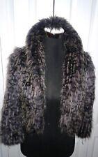 Woman's Paris Blues Faux Ostrich Fur Shrug Coat Sz S