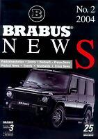 1274MB Brabus News 2004 2/04 Prospekt D+GB G V12 Biturbo K4 K8 Yachtcharter
