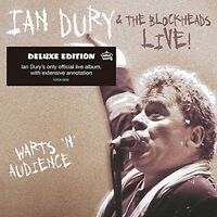 IAN & THE BLOCKHEADS DURY - WARTS 'N' AUDIENCE (DELUXE EDITION)  CD NEW+