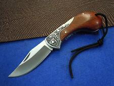 Boda Wood Handle BackLock Pocket Folding Knife B54