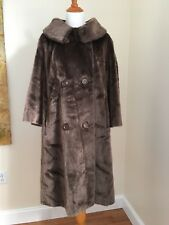 Vintage Brazotta / Fairmoor 1960's Faux Fur Coat ~ Plush Brown ~ Women's Sz L XL