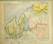 1881 LETTS MAP INDIA CUTCH KATTYWAR GUZERA SIND