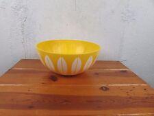 "Deka Bowl Yellow Lotus 11""  Salad Vintage Cathrine Holm Style Plastic Great"
