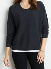 J Jill NEW Chelsea Pullover Round Neck Sweater Size L Gray Heather ~ NWT $79