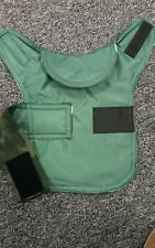 Teacup chihuahua . Waterproof dog coat .size xxxs. Green with camoflage fleece