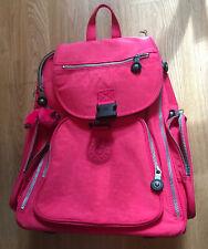 NWT Pink KIPLING ALCATRAZ II Large Rolling Laptop Backpack School Telescoping
