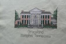 Finished Cross Stitch of Elvis Presley's Graceland, Memphis Tennessee