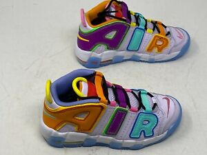 Nike Air More Uptempo  Multi Color DH0828-500 Kids SZ 2Y PS White Yellow Purple