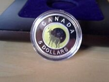 2011 Silver & Niobium Canadian $5 Full Hunter's Moon (W/Box&CoA)