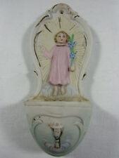 Porzellan Weihwasserkessel, bunt bemalt, mit Jesuskind auf der Vorderseite,1930