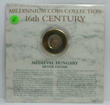 Millennium Coin Collection Medieval Hungary Silver Denar 16th Century Coin Jg112