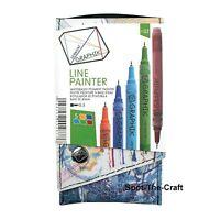 Derwent Graphik Line Painter 5 Pens Palette 2 Nib Size 0.5 2302231