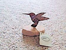 Lazart Metal Hummingbird on Sandstone Stone Base