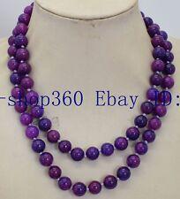 """Pretty Natural Africa 8mm Round Purple Sugilite Gemstone Necklace 36"""""""