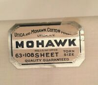 "Vintage Utica And Mohawk Cotton Mills 63""x108"" Sheet Torn Size White Set Of 4"