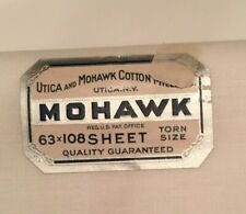 """Vintage Utica And Mohawk Cotton Mills 63""""x108"""" Sheet Torn Size White Set Of 4"""
