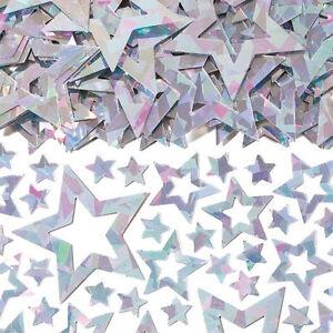 Silver Stars Table Confetti Prismatic Sparkle Confetti Silver Party Decorations