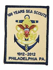Sea Scouts BSA 100th Anniversary Sea Scouting Philadelphia PA Badge Tan 2012 New
