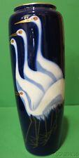 "Vintage Fukugawa Vase Crane Design 11"" tall"