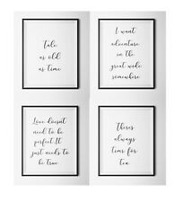 SET 0F 4 -BEAUTY AND THE BEAST Quotes A4 prints- Gallery Wall Prints- Wall Art