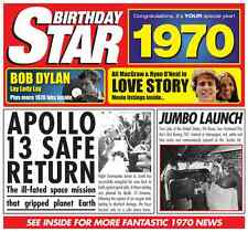 48th  BIRTHDAY GIFT- 1970 Chart Hits Britpop CD and Year Greeting Card