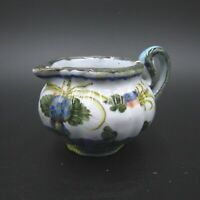 Antique Faenza Signed Maiolica Majolica Pottery Creamer Vase Jar Hand Painted