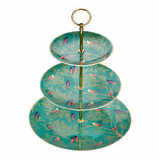 Sara Miller Chelsea Collection 3 Tier Cake Stand, Green