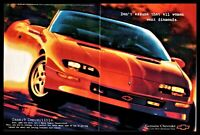 1997 CHEVROLET CAMARO Red Convertible Centerfold AD