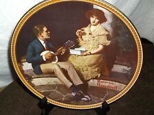 """edwin knowles china collectible plates """"pondering on the pordh"""""""