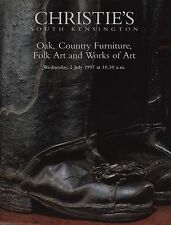 Chêne pays meubles et oeuvres d'art polytige Folk Art Auction catalogue