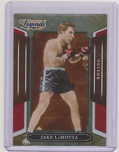 RARE 2008 DONRUSS LEGENDS JAKE LAMOTTA BOXING CARD #13 ~ RED PARALLEL /250