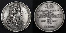 Médaille Commémorative Louis XIV (1638-1715). Etain