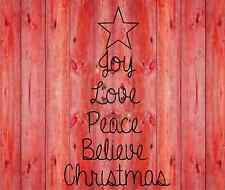 Christmas Tree Love Joy Peace vinyl lettering wall quotes home art decor sticker