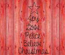 Christmas Tree Love Joy Peace vinyl lettering wall quotes home art decor sticker