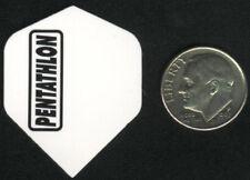 Mini White PENTATHLON Standard Dart Flights: 3 per set