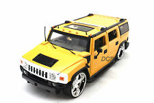 Jada Kustoms Hummer H2 Yellow New Without Box 1/24 Diecast  Cars