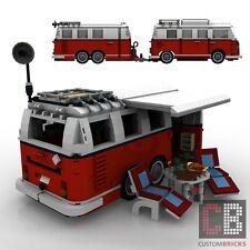 BAUANLEITUNG Eigenbau Wohnwagen 2Achser Anhänger für LEGO® Steine MOC T1 10220
