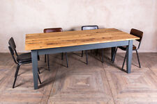 210X100CM OAK TOP DINING TABLE WITH PAINTED PINE BASE ANY FARROW & BA COLOUR