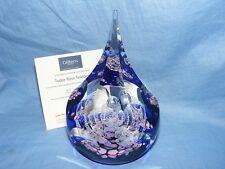 Caithness Glass Paperweight Queen Elizabeth II Coronation Tudor Rose Teardrop