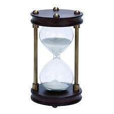 Distinctive Wood/Metal 15 min. Hourglass Sand Timer by Benzara