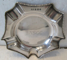 HALLMARKED STERLING SILVER ASHTRAY-BLACKPOOL NORTH SHORE GOLF CLUB  1929