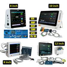 8 10 12 Portable Medical Patient Monitor Vital Sign Ecg Nibp Resp Temp Spo2