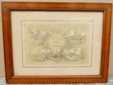 Dessin Ancien Projet Couverture Ouvrage VICHY 1863 XIXe HUBERT CLERGET