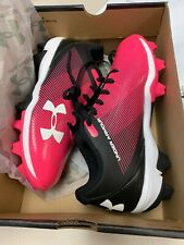 Under Armour Youth Leadoff Low RM Jr. Baseball Cleats Size 2.5y Pink 1287316-002
