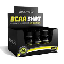BioTech USA BCAA Shot - 20x60ml Lime für Muskelaufbau & Diät + BONUS
