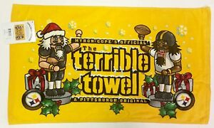 NEW Pittsburgh Steelers Christmas Holiday Nutcracker Edition Terrible Towel NFL