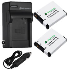 2x NB-8L NB8L Battery +Charger For Canon PowerShot A2200 IS A3000 A3100 A3300