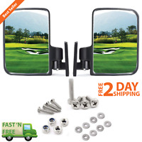 Golf Cart Equipment Side Mirrors Rear View Mirror Fits Club Car EZ-GO Yamaha